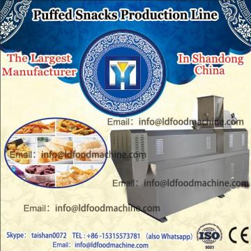 Continuous  Salted puffing snack food making extruder machine/Sweetened extruded food products processing line