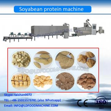 TVP soya bean protein chunks nuggets machine
