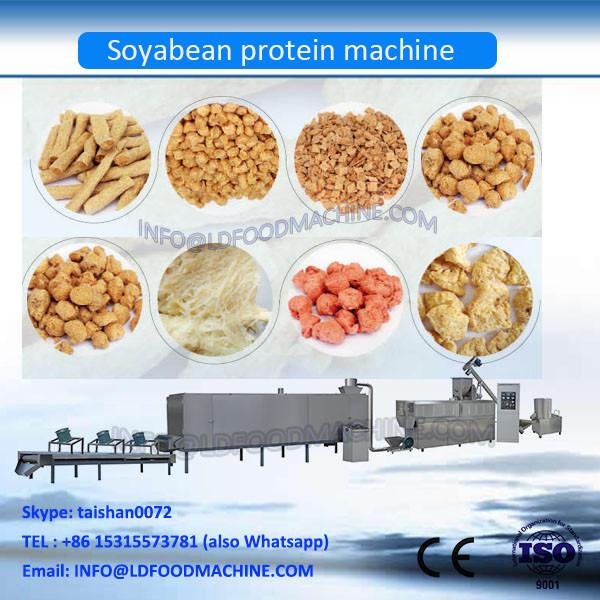 Continuous 500kg/h hot sale continuous soy protein chunks making machine extruder line China factory supplier #1 image