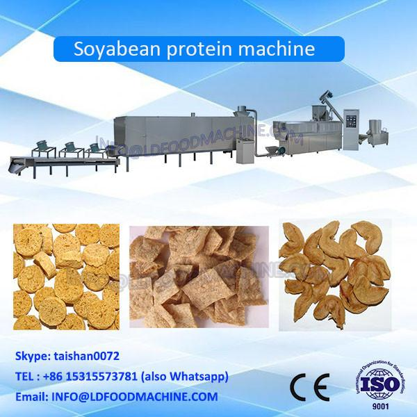 Automatic Fibre Textured Soya Nuggets Chunk Protein TVP TSP Extruder Making Machine Production Line #1 image