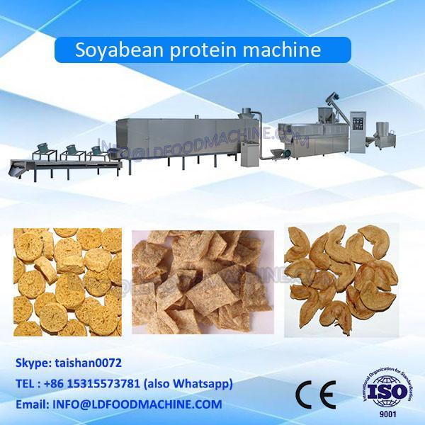 China good soya snacks production making plant meat chunks machine protein line #1 image